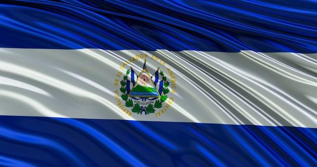 Bandera de salvador para el día de los caídos, día de la independencia.