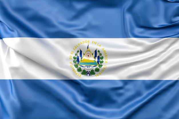 Bandera de el salvador Foto gratis