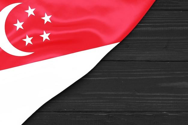 Bandera de singapur espacio de copia