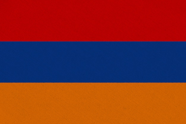 Bandera de tela armenia