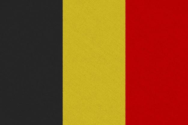 Bandera de tela de bélgica