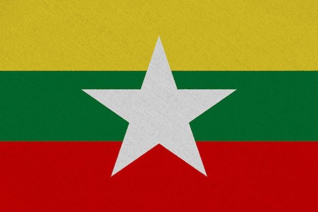 Bandera de la tela de birmania