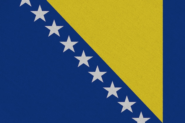 Bandera de tela de bosnia y herzegovina