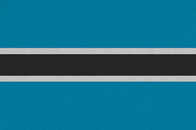 Bandera de tela de botsuana