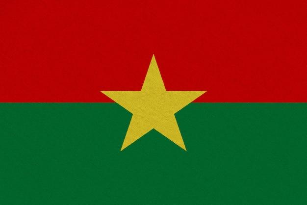 Bandera de tela de burkina faso
