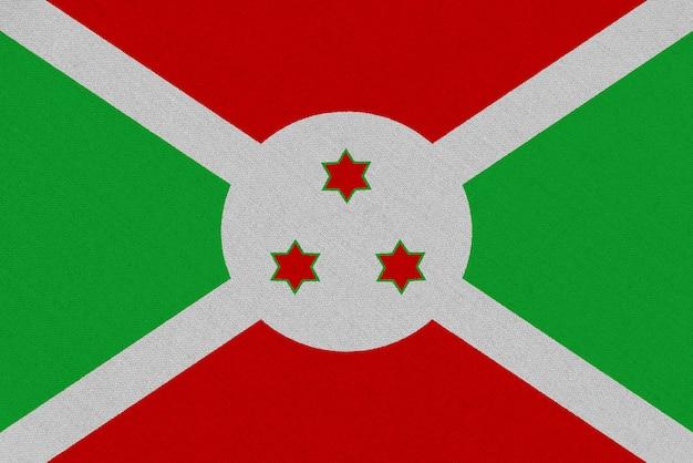 Bandera de la tela de burundi