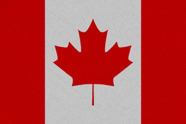 Bandera de tela de canadá