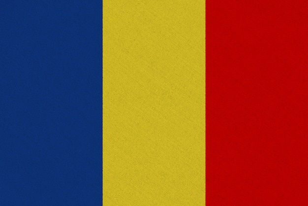 Bandera de tela chad