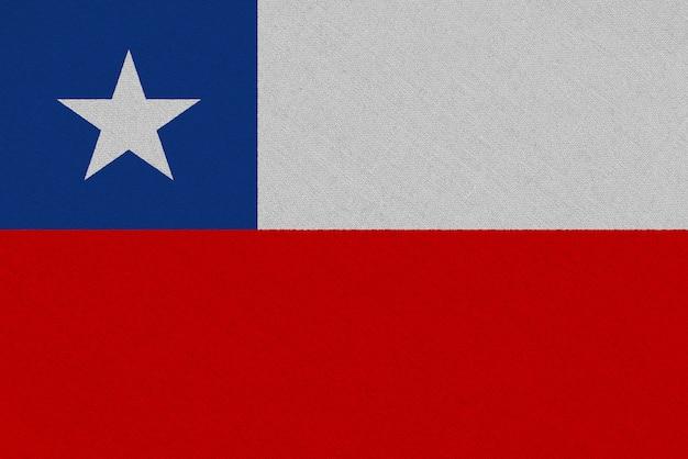 Bandera de tela de chile