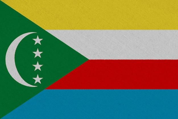 Bandera de tela de comoras