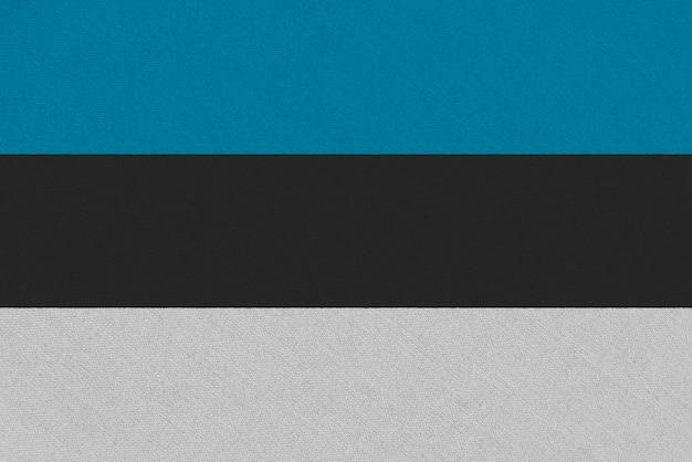 Bandera de tela estonia