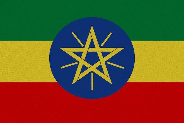 Bandera de tela de etiopía