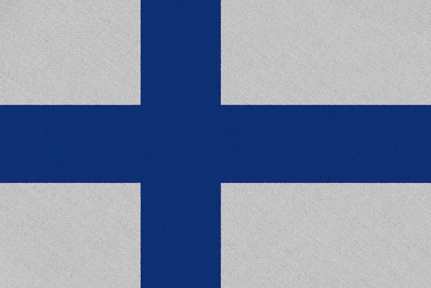 Bandera de tela de finlandia