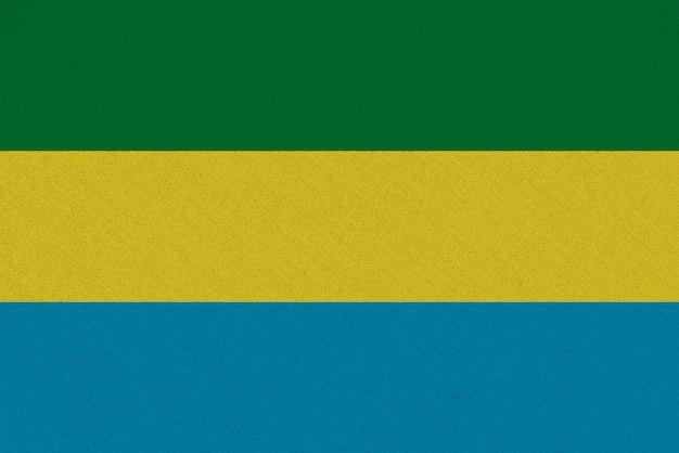 Bandera de tela de gabón
