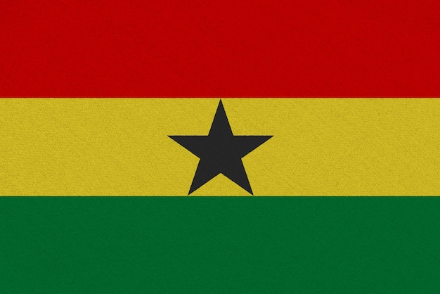 Bandera de tela de ghana