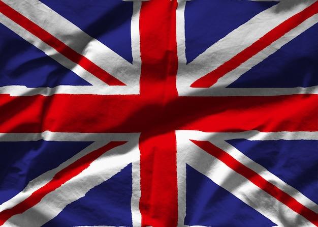 Bandera de tela de gran bretaña
