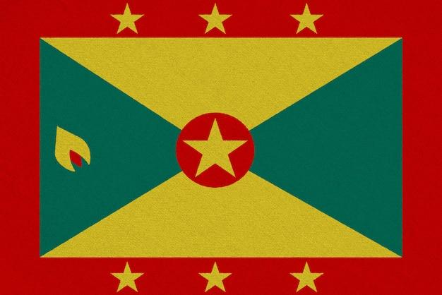 Bandera de tela granada