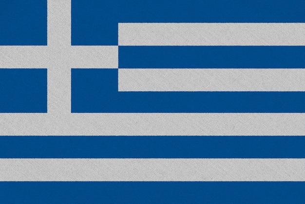 Bandera de tela de grecia