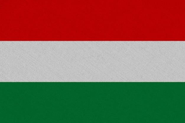 Bandera de la tela de hungría