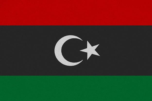 Bandera de tela de libia