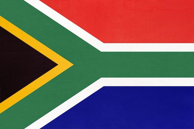 Bandera de tela nacional de la república de sudáfrica
