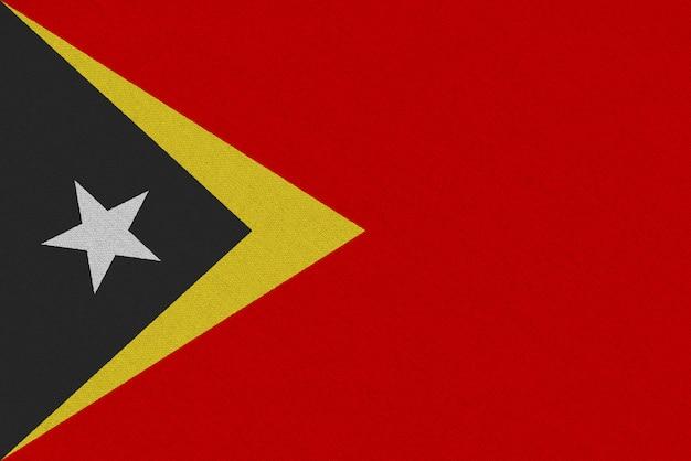 Bandera de la tela de timor oriental