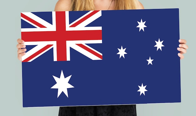 Bandera del union jack del país de australia