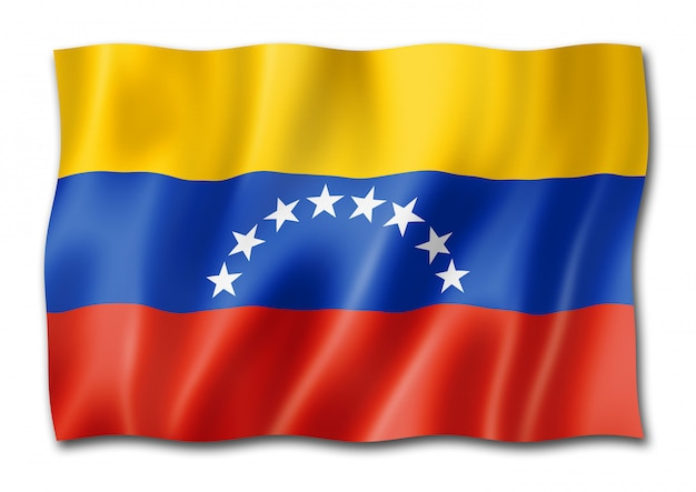 Bandera venezolana aislada