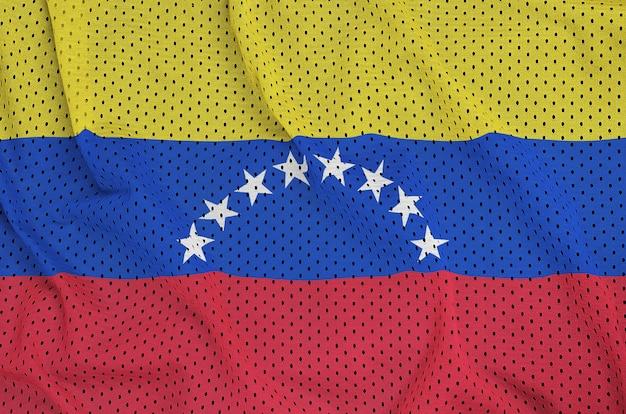 Bandera de venezuela impresa en una malla de nylon y poliéster