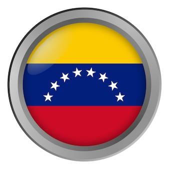 Bandera de venezuela redonda como un botón