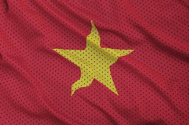 Bandera de vietnam impresa en una malla de poliéster y nylon