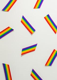 Banderas de papel lgbt brillantes