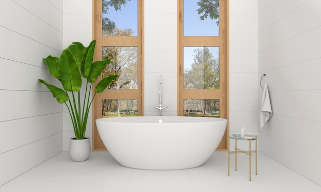 Bañera interior baño