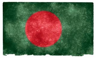 Bangladesh bandera del grunge