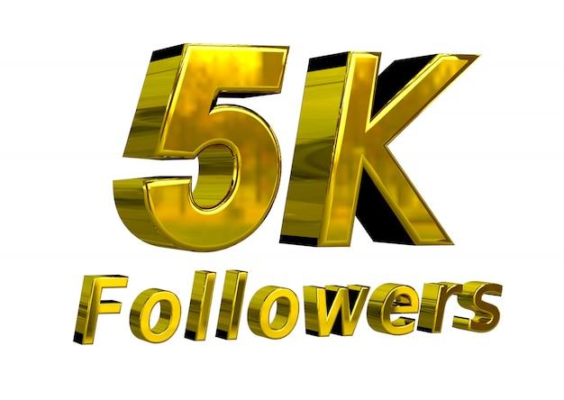Banner de celebración de 5k seguidores para usar en las redes sociales