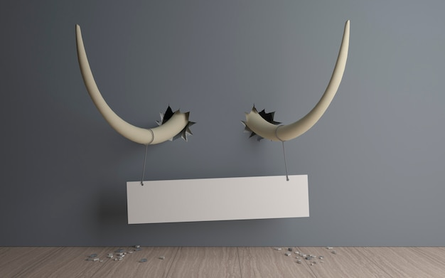 Banner en colmillos de elefante.