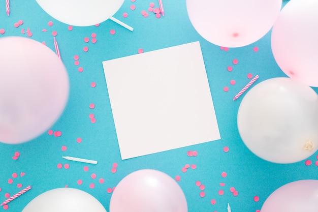 Banner de fiesta o cumpleaños con espacio para texto