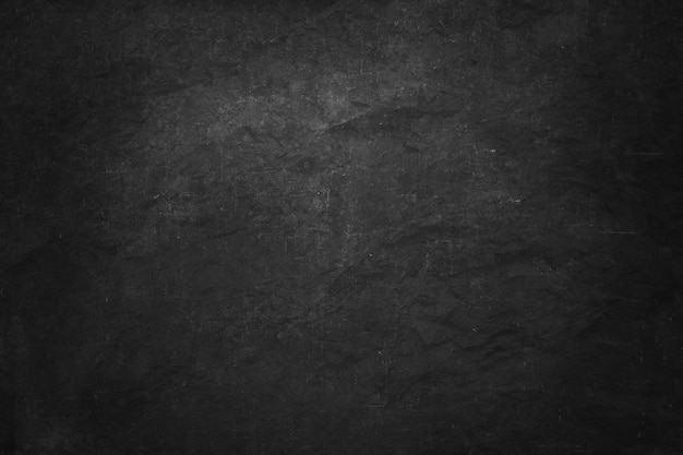Banner de pizarra negro y oscuro, pared interior en blanco y sala de estudio para el producto presentado