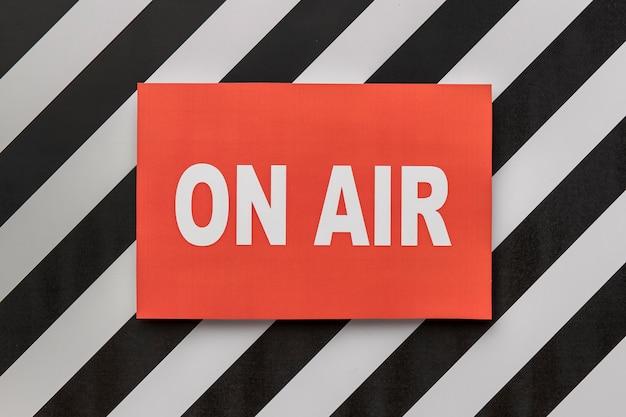 Banner de transmisión de radio en vivo en vivo