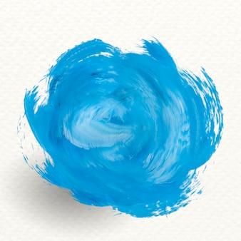 Banner de trazo de pincel azul