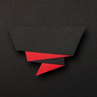 Banner de ventas abstracto sobre fondo negro