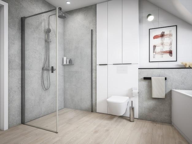 Baño de arquitectura 3d