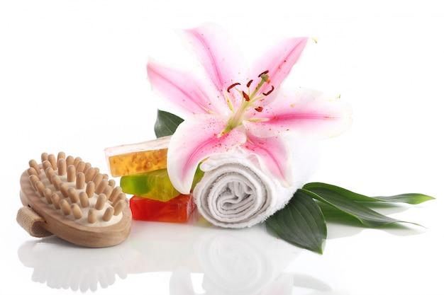 Baño invertido y flor de lirio