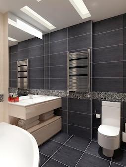 Baño principal en estilo contemporáneo.