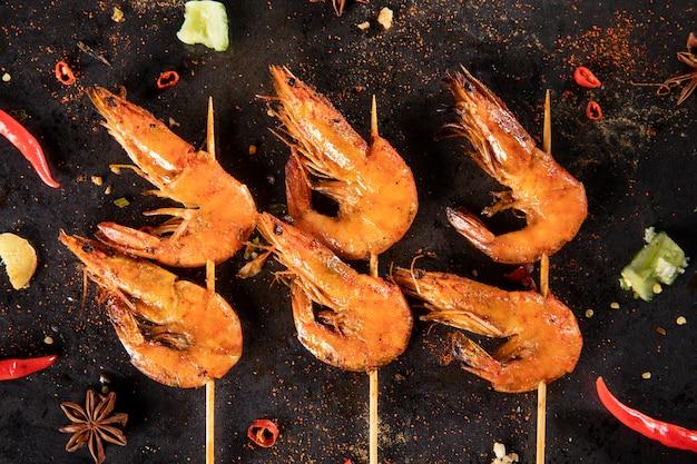 Barbacoa cerdo carne de res pollo mariscos china