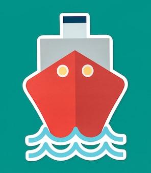 Barco navegando en el oceano
