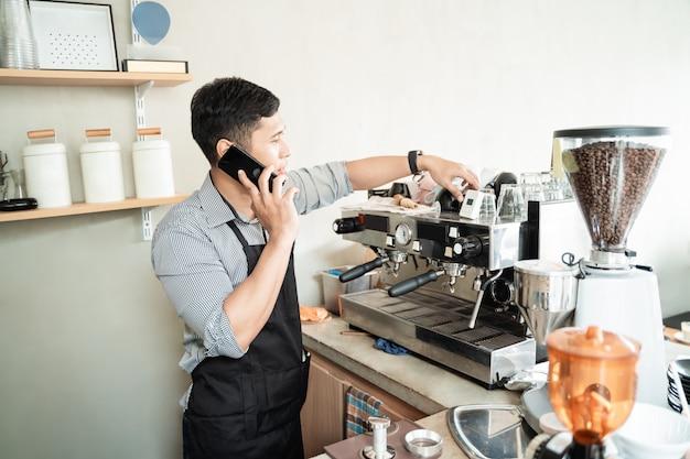 Barista control de cafetera