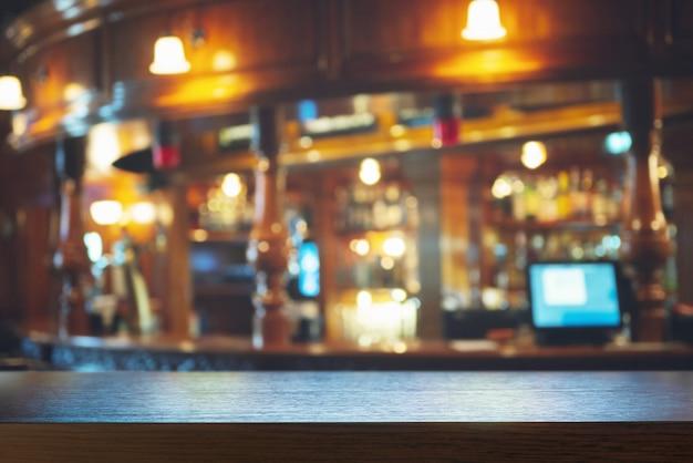 Barra de bar vacía
