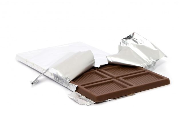Barra de chocolate en envoltura