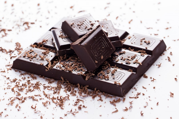 Barra de chocolate negro